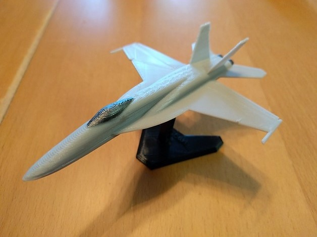 A rendered CAD model of the FA-18.