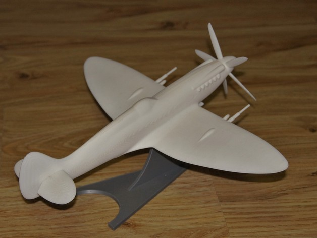 The fully assembled Spitfire XIV.