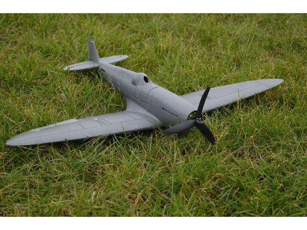 The assembled Spitfire.