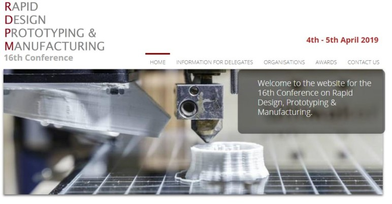 Image of Additive Manufacturing / 3D Printing Conference: April 4-5, 2019 - Rapid Design Prototyping & Manufacturing