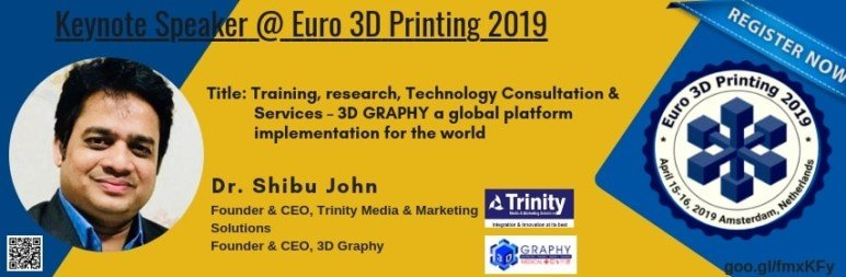 Image of Additive Manufacturing / 3D Printing Conference: April 15-16, 2019 - Euro 3D Printing 2019