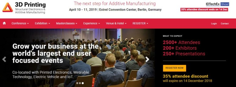 Image of Additive Manufacturing / 3D Printing Conference: April 10-11, 2019 - 3D Printing Europe 2019