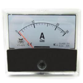 An analog ammeter.