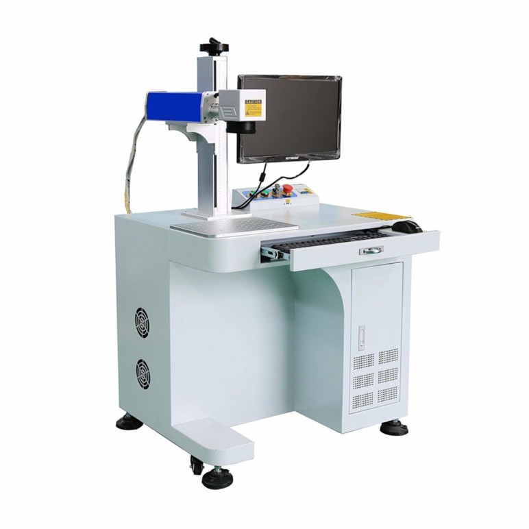 Image of Best Laser Marking Machines: DIHORSE Desktop Fiber Laser Marking Machine