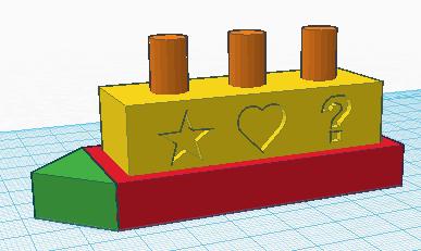 A simple CAD model.