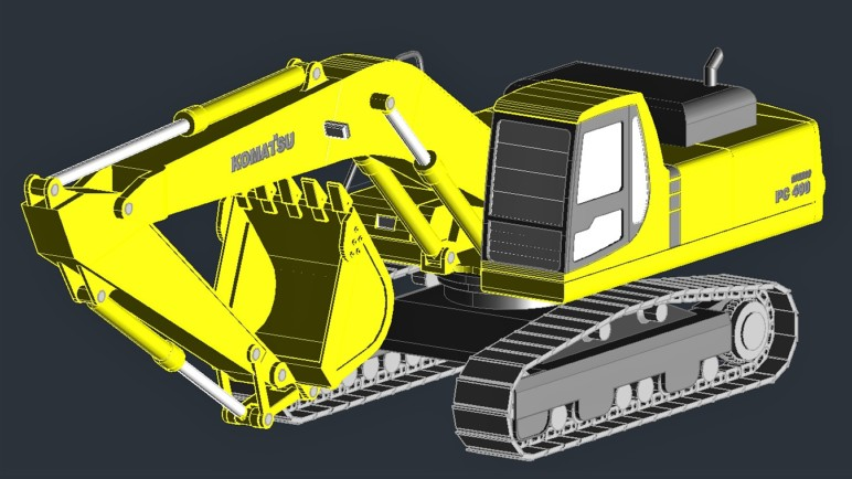 A model made in AutoCAD.
