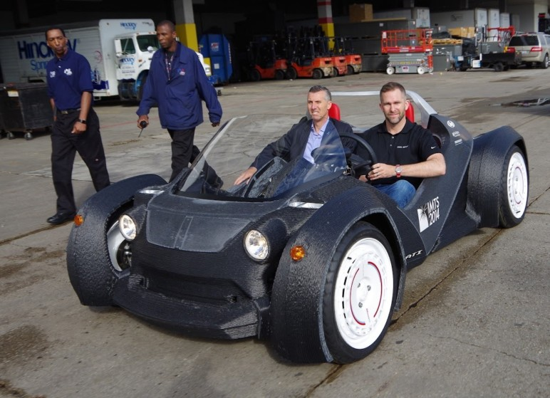 Local Motors' Strati, an almost entirely 3D printed car.