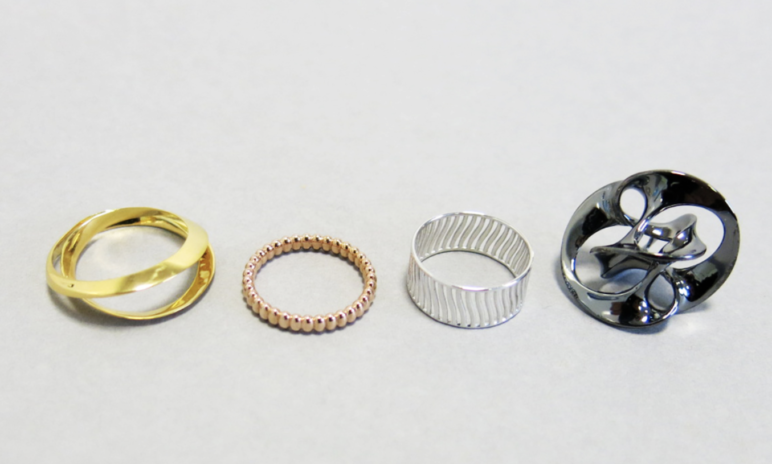 A few examples of casted pieces of jewelry.