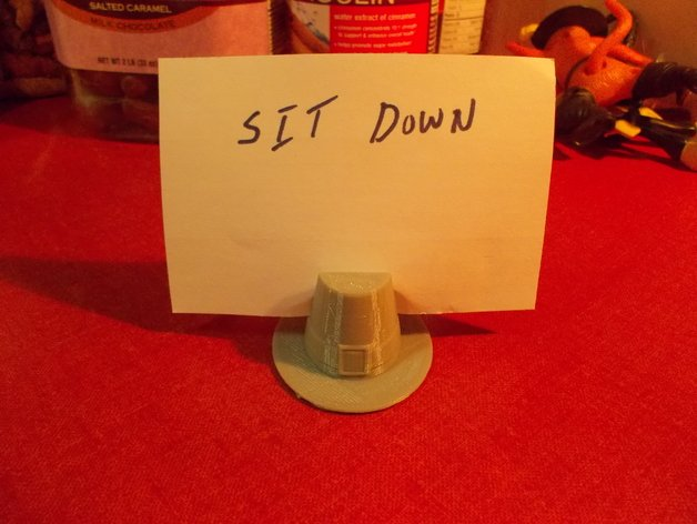 Image of Weekend Project: Thanksgiving 3D Prints: Pilgram Hat Card Holder