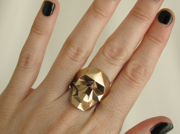 Lowpoly Skull Ring by Xtellar.