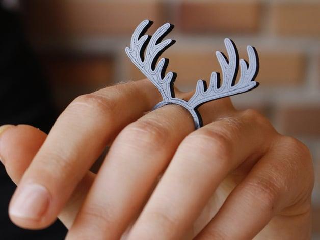 Deer Ring by FLOWASTIK.