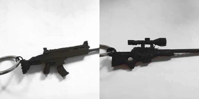 Image of Fortnite Props to 3D Print: Fortnite Weapon Key Chain