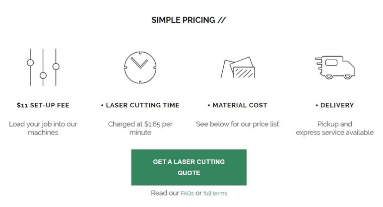 The Laser Co's service plan.