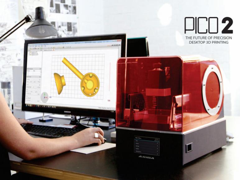 Image of Die 25 besten Resin-(LCD/DLP/SLA)-3D-Drucker im Winter 2018/19: Asiga Pico 2