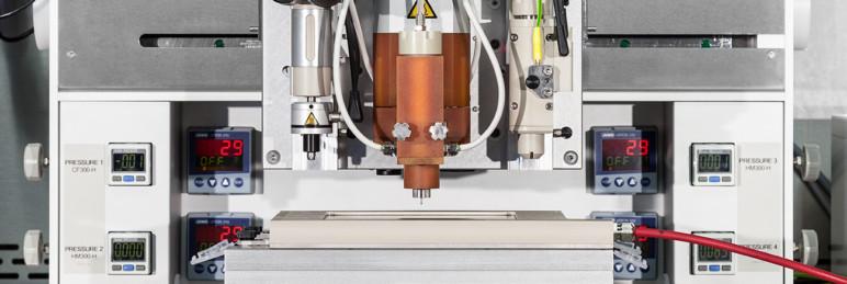 A 3D bioprinter.