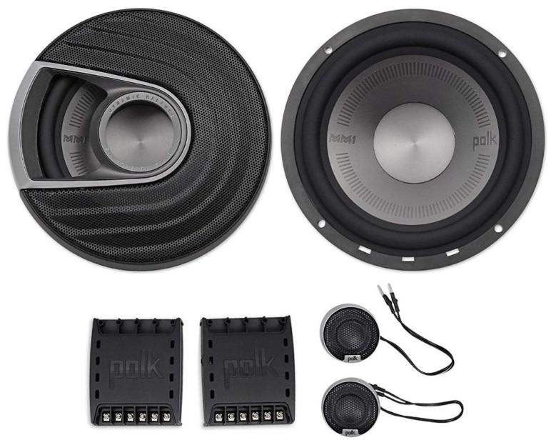 The Polk Audio speakers.