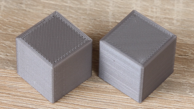 Tuning material flow with calibration cubes
