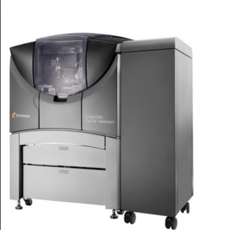 One of Stratasys' many dental 3D printers.