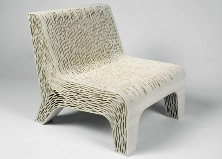 A 3D printed chair.