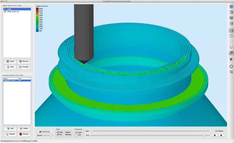 Slicing software splits your model into slices (or layers).