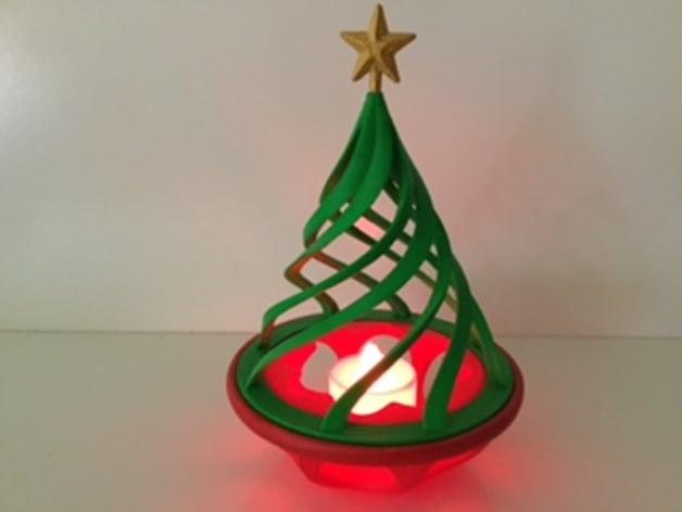 Image of 3D Printed Christmas Decorations: Mini Christmas LED Tree