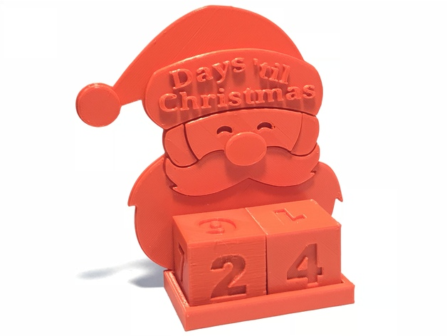Image of 3D Printed Christmas Decorations: Christmas Advent Calendar