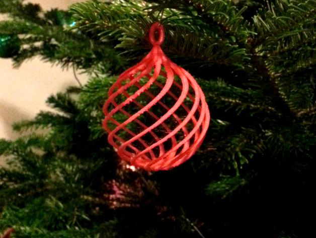 Image of 3D Printed Christmas Decorations: Bauble (Christmas Tree Ball)