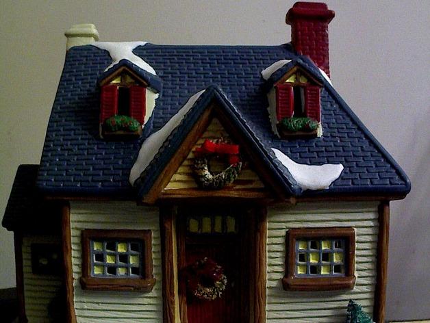Image of 3D Printed Christmas Decorations: Christmas Tree House