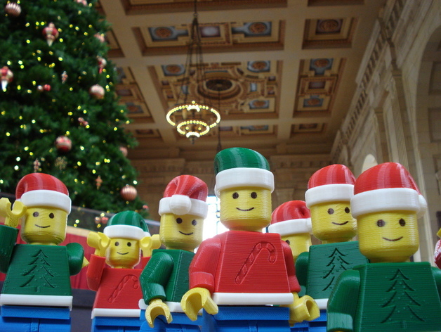 Image of 3D Printed Christmas Decorations: Christmas Lego Men