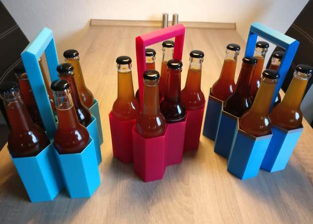 Image of Objets 3D utiles à imprimer en 3D: Porte-bouteilles