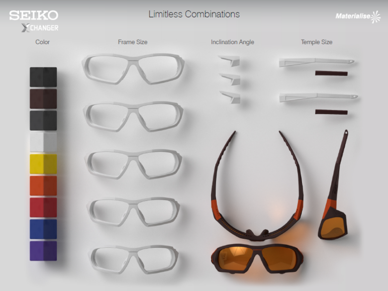 Customize your own pair of sports sunglasses.