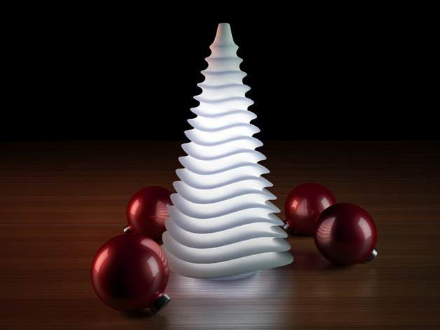 Image of 3D Printed Christmas Lights: Wave Lamp