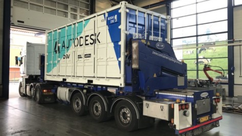 "Featured image of Autodesk Brings Additive Manufacturing to Construction Sites with Shipping Container ""Toolbox"""