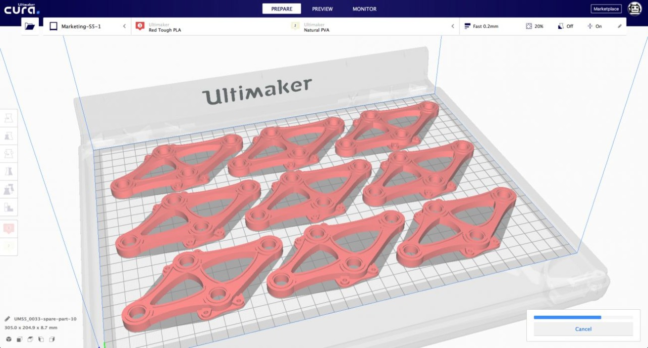 Featured image of Ultimaker Cura 4.0 Beta Released with Preview of New User Interface