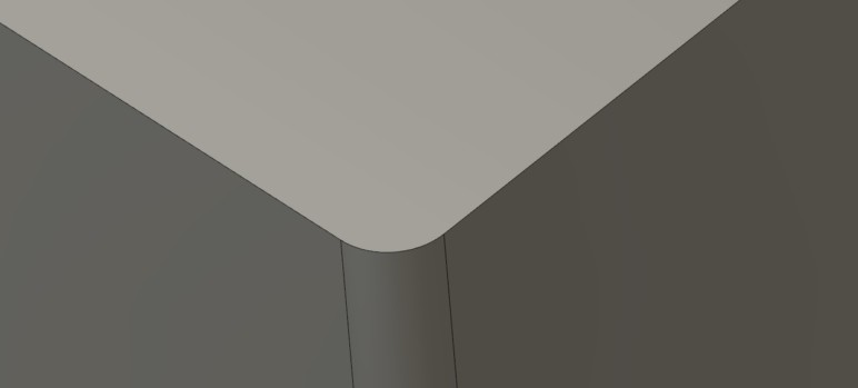 A design with rounded corners.