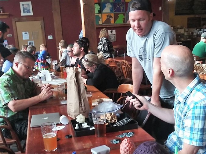 Members of Portland 3DPLab Meetup Socialize and Share.