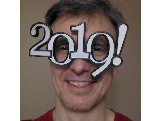 Image of Weekend Project: 3D Printing Projects for New Year's Eve 2019: 2019 New Year Eve (Dual-Extrusion)