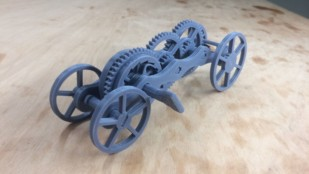 Featured image of Weekend Project: A Fully 3D Printed Wind-Up Car