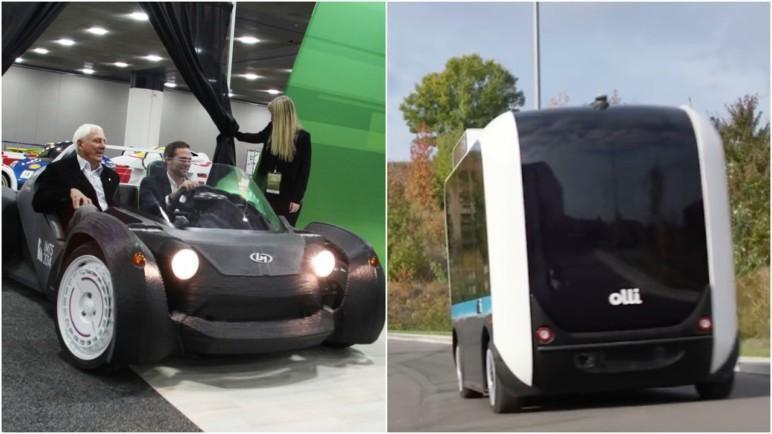 Local Motors' 3D printed vehicles.