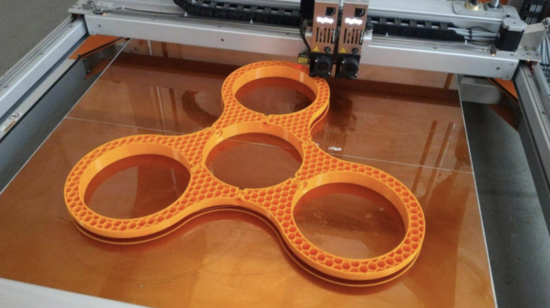 The spinner, mid-print.