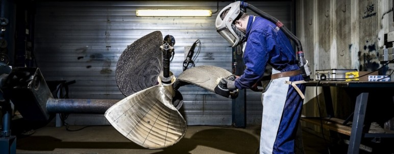 The world's first 3D printed ship propeller.