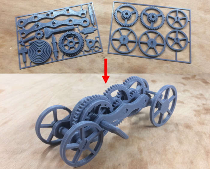 Image of Weekend Project: A Fully 3D Printed Wind-Up Car: What You Need & How to Build it