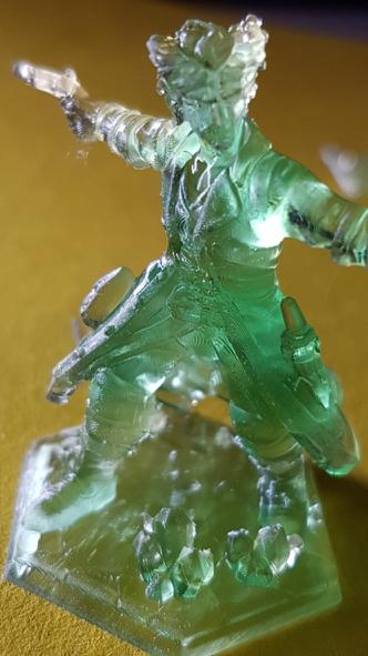 Hero miniature made with a resin printer.