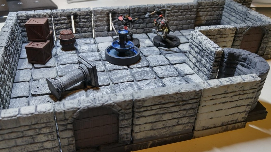 picture regarding 3d Printable Dungeon Tiles named DD 3D Print Your Private Dungeons Dragons Components All3DP