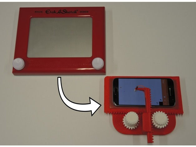 The classic vs digital Etch-A-Sketch.