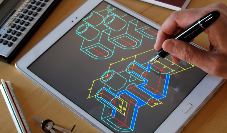 DWG Viewer on a tablet.