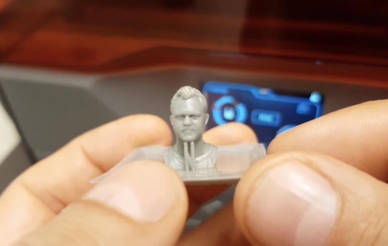 A 3D printed figurine of Daniel Norée, an award winning 3D designer from Sweden