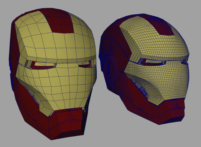 3D printed Iron Man mask and helmet.