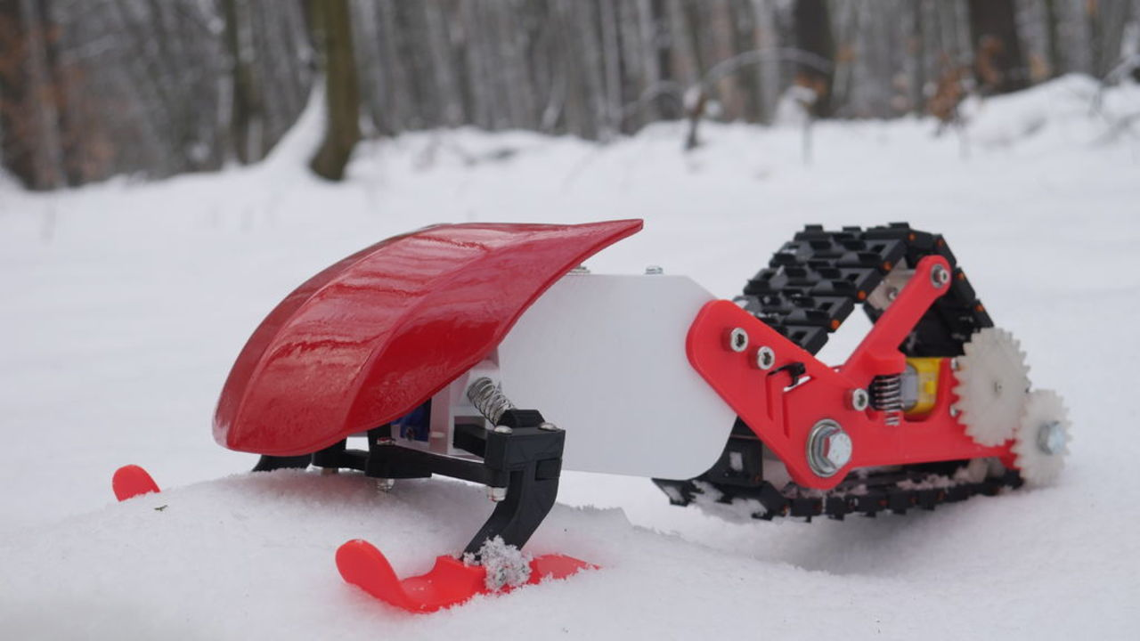 [Project] Shred in this 3D Printed Snowmobile | All3DP