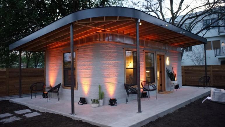 A 3D printed concept home in Austin, Texas